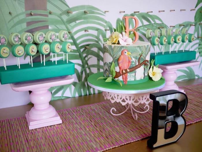 Rainforest Dessert Table from a Rainforest Birthday Party on Kara's Party Ideas | KarasPartyIdeas.com (4)