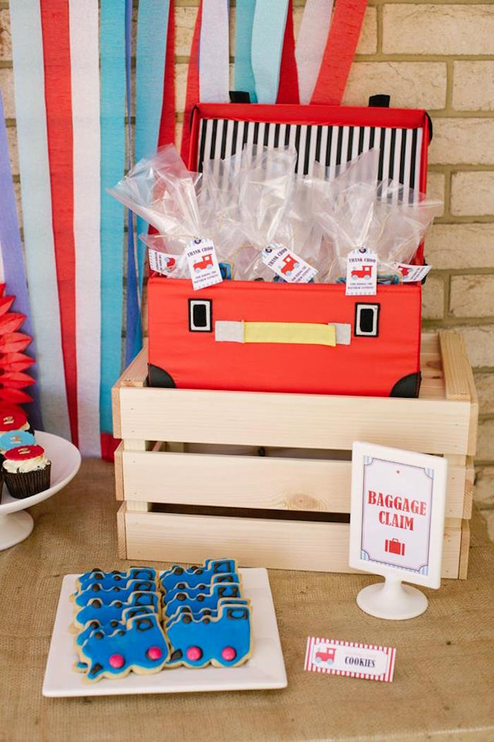 Train Cookie Baggage Claim from a Retro Railroad Birthday Party on Kara's Party Ideas | KarasPartyIdeas.com (12)