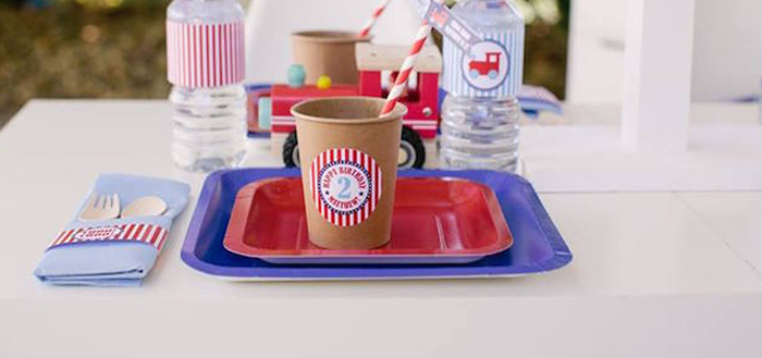 Retro Railroad Birthday Party on Kara's Party Ideas | KarasPartyIdeas.com (1)