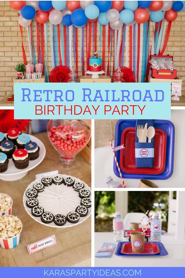 Retro Railroad Birthday Party Via KarasPartyIdeas