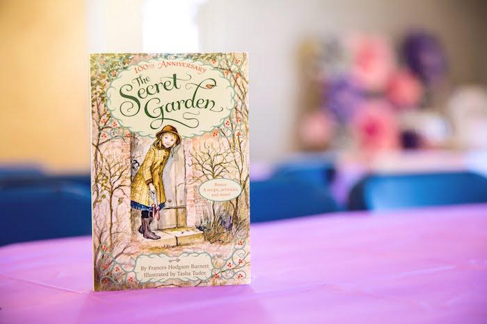 Secret Garden Book Centerpiece from a Secret Garden Birthday Party on Kara's Party Ideas | KarasPartyIdeas.com (15)