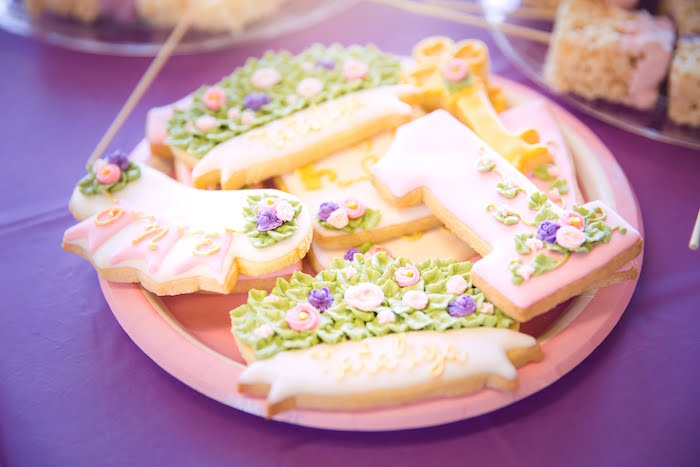 Secret Garden Cookies from a Secret Garden Birthday Party on Kara's Party Ideas | KarasPartyIdeas.com (12)