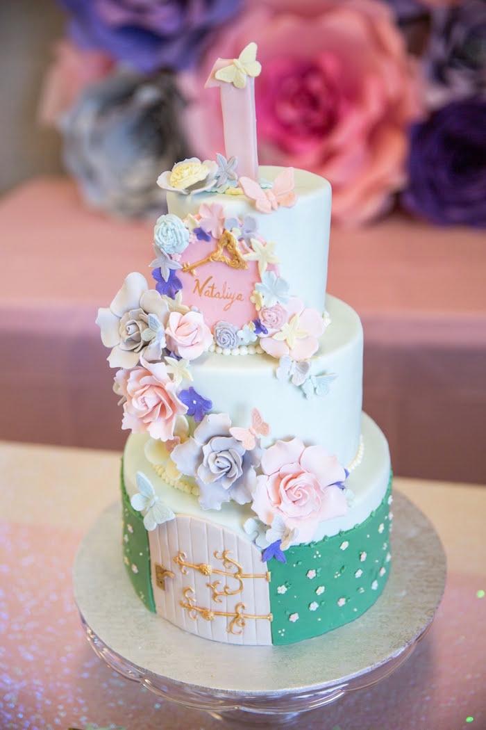 Secret Garden Cake from a Secret Garden Birthday Party on Kara's Party Ideas | KarasPartyIdeas.com (8)