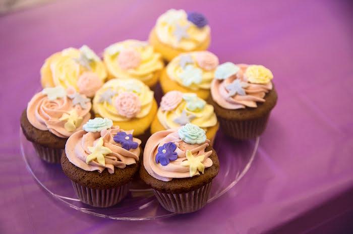 Garden Cupcakes from a Secret Garden Birthday Party on Kara's Party Ideas | KarasPartyIdeas.com (22)