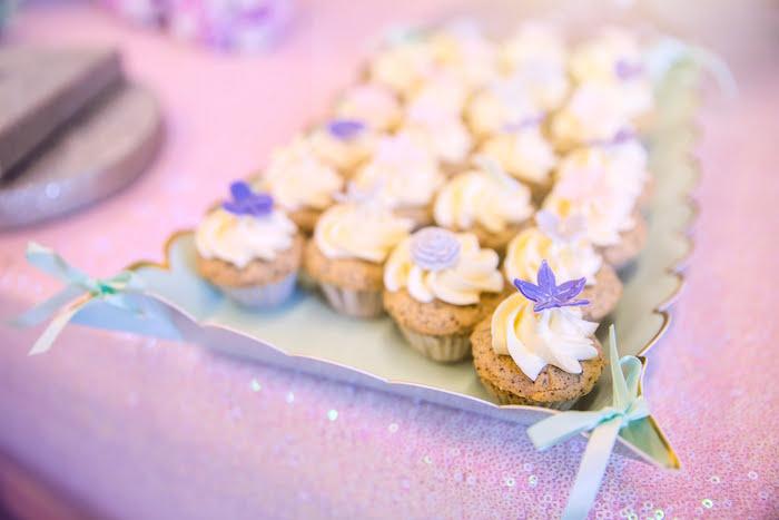 Garden Cupcakes from a Secret Garden Birthday Party on Kara's Party Ideas | KarasPartyIdeas.com (20)