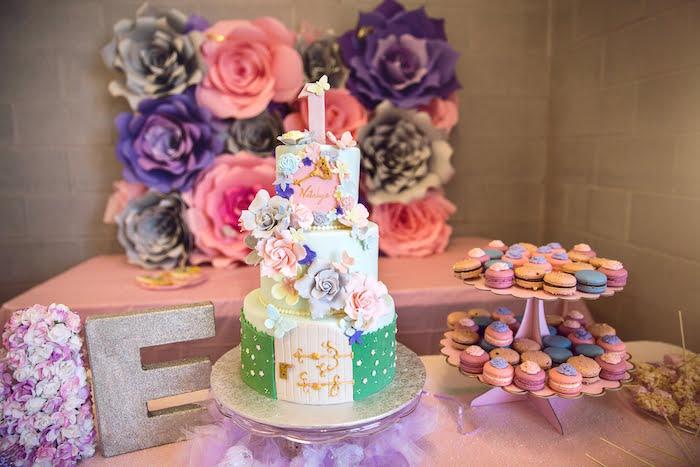 Secret Garden Cake from a Secret Garden Birthday Party on Kara's Party Ideas | KarasPartyIdeas.com (18)