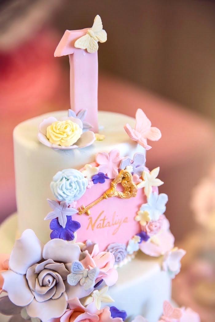 Secret Garden Cake Top from a Secret Garden Birthday Party on Kara's Party Ideas | KarasPartyIdeas.com (17)