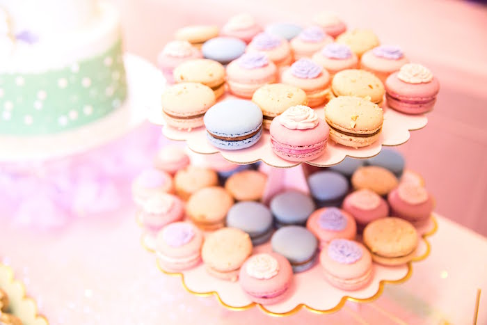 Pastel Macarons from a Secret Garden Birthday Party on Kara's Party Ideas | KarasPartyIdeas.com (16)