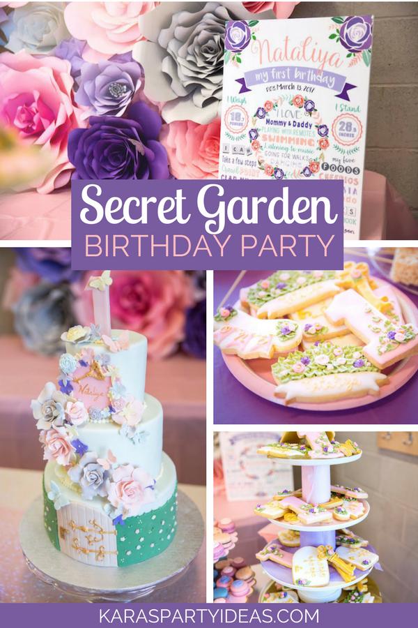 Secret Garden Birthday Party via KarasPartyIdeas - KarasPartyIdeas.com