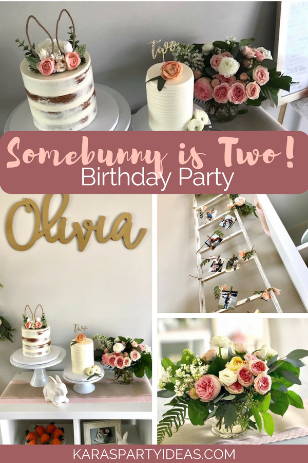 Somebunny is Two! Birthday Party via KarasPartyIdeas - KarasPartyIdeas.com