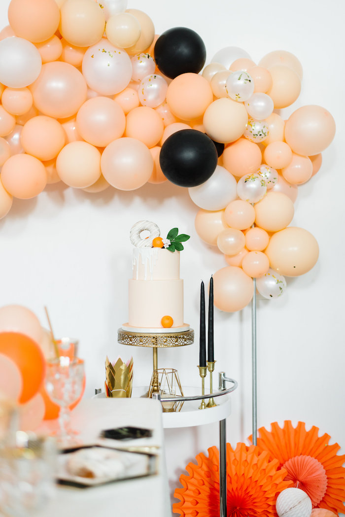 Sophisticated Orange Ombre Birthday Party on Kara's Party Ideas | KarasPartyIdeas.com (14)