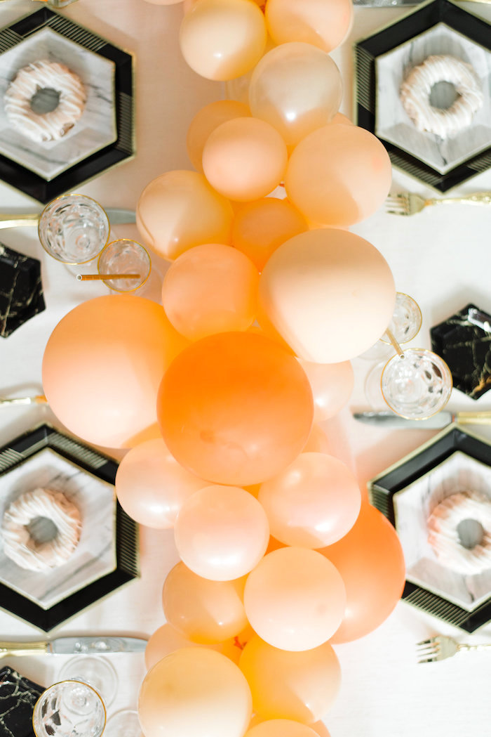 Tabletop from a Sophisticated Orange Ombre Birthday Party on Kara's Party Ideas | KarasPartyIdeas.com (13)