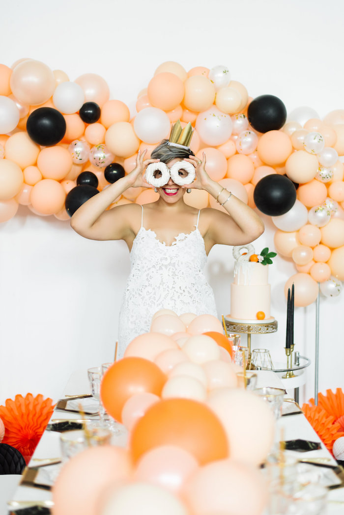 Sophisticated Orange Ombre Birthday Party on Kara's Party Ideas | KarasPartyIdeas.com (6)