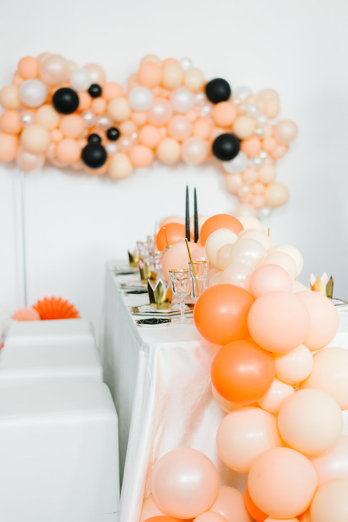 Gorgeous Orange Ombre Tablescape from a Sophisticated Orange Ombre Birthday Party on Kara's Party Ideas | KarasPartyIdeas.com (22)