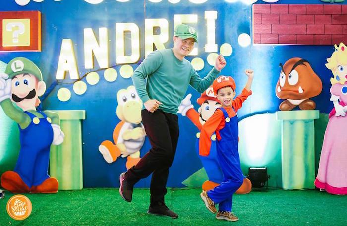 Mario Photo Booth from a Super Mario Birthday Party on Kara's Party Ideas | KarasPartyIdeas.com (3)