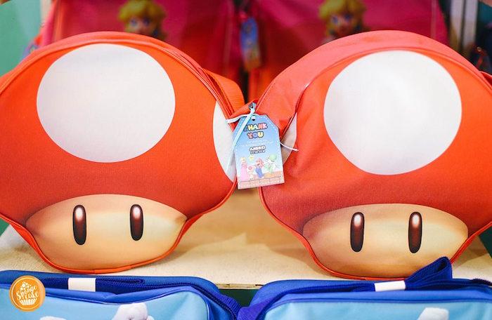Toad Favor Bags from a Super Mario Birthday Party on Kara's Party Ideas | KarasPartyIdeas.com (17)