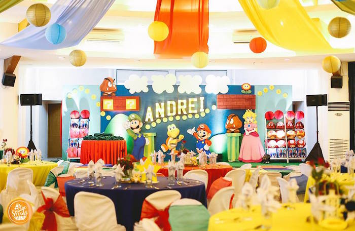 Super Mario Birthday Party on Kara's Party Ideas | KarasPartyIdeas.com (16)