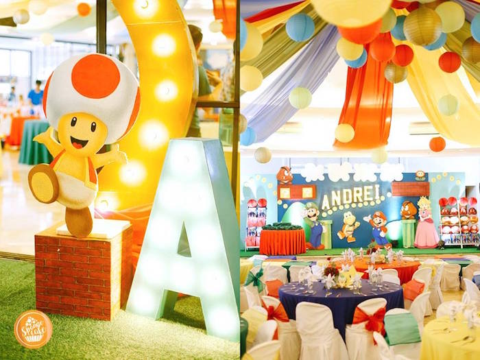 Karas Party Ideas Super Mario Birthday Party Karas Party Ideas