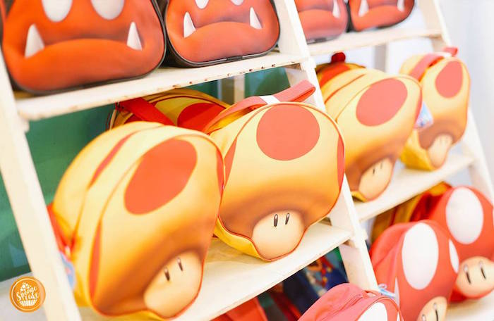 Toad Favor Bags from a Super Mario Birthday Party on Kara's Party Ideas | KarasPartyIdeas.com (11)
