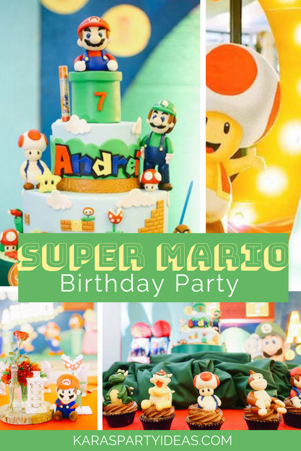 Super Mario Birthday Party via KarasPartyIdeas - KarasPartyIdeas.com