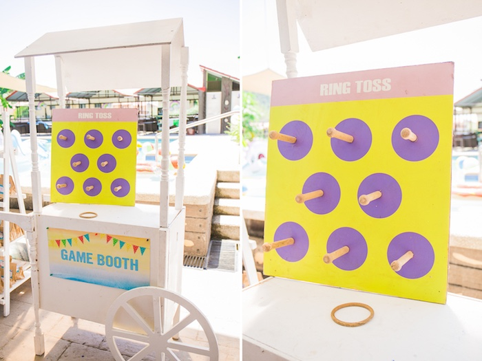 Ring Toss Game Cart from a Surf & Summer Birthday Pool Party on Kara's Party Ideas | KarasPartyIdeas.com (13)