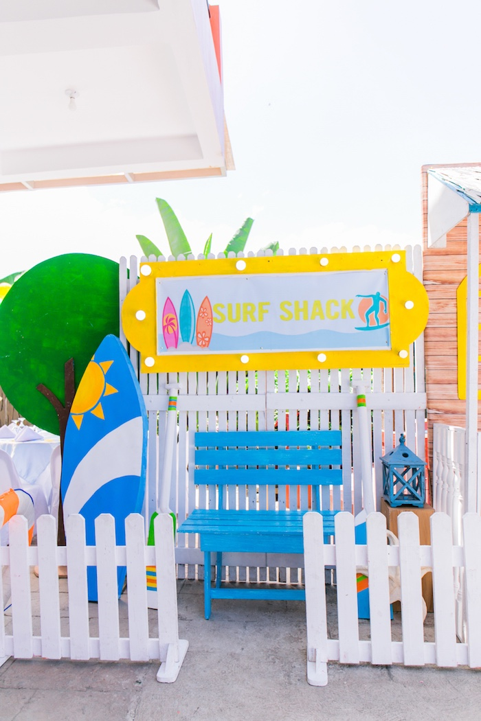 Surf Shack Photo Booth from a Surf & Summer Birthday Pool Party on Kara's Party Ideas | KarasPartyIdeas.com (30)