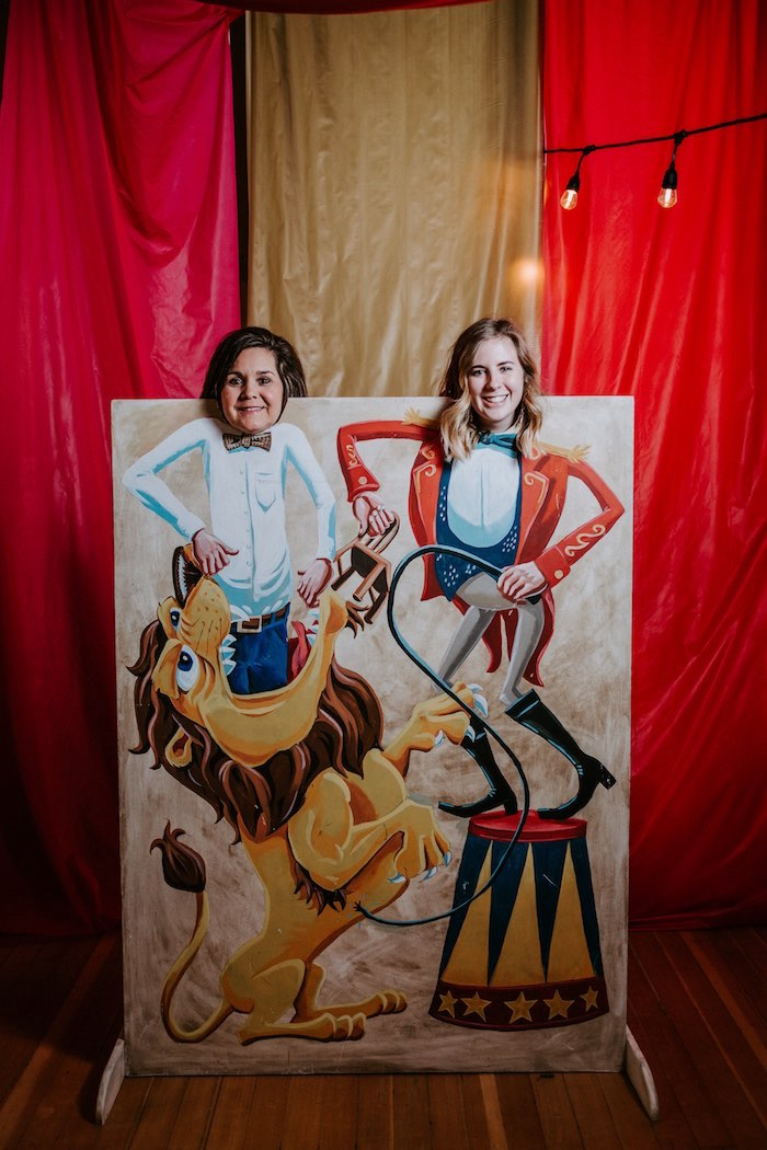 Circus Photo Backdrop from The Greatest Showman Inspired Circus Party on Kara's Party Ideas | KarasPartyIdeas.com (12)