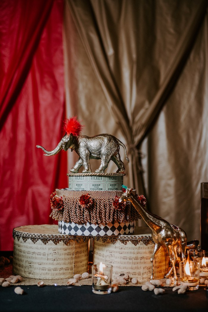 Circus Centerpiece from The Greatest Showman Inspired Circus Party on Kara's Party Ideas | KarasPartyIdeas.com (8)