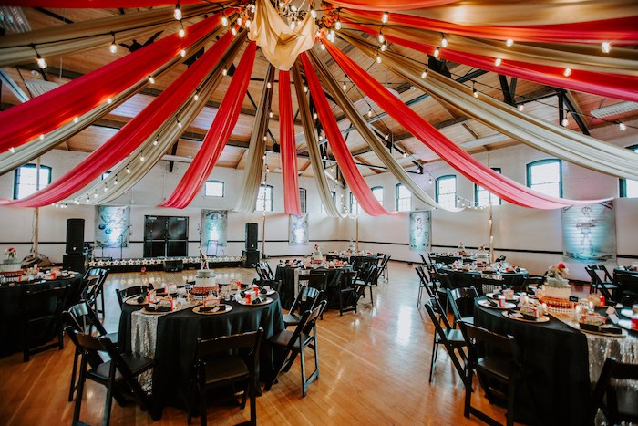 Big Top Partyscape + Guest Tables from The Greatest Showman Inspired Circus Party on Kara's Party Ideas | KarasPartyIdeas.com (24)