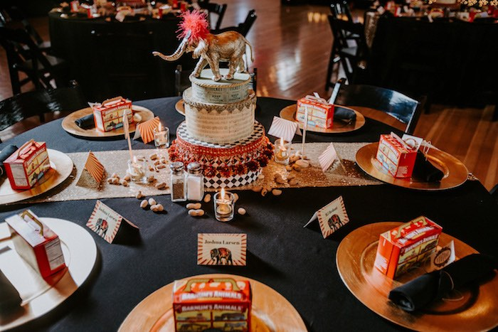 Circus-inspired Guest Table from The Greatest Showman Inspired Circus Party on Kara's Party Ideas | KarasPartyIdeas.com (17)