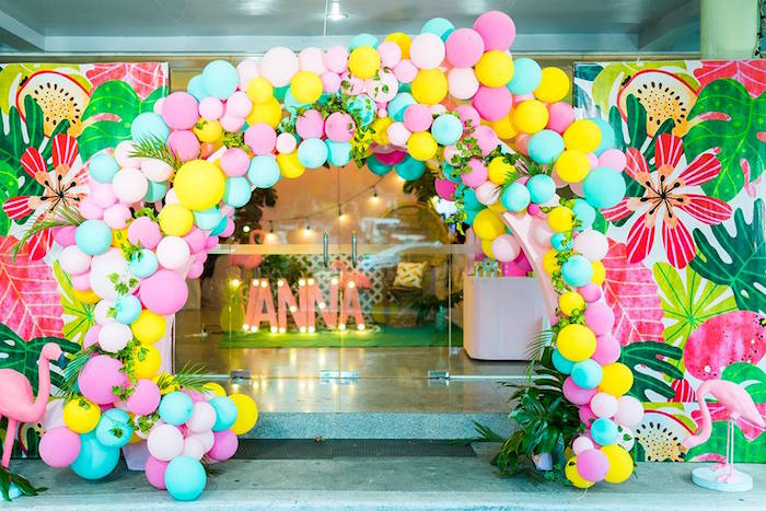 Kara S Party Ideas Tropical Flamingo Birthday Party Kara