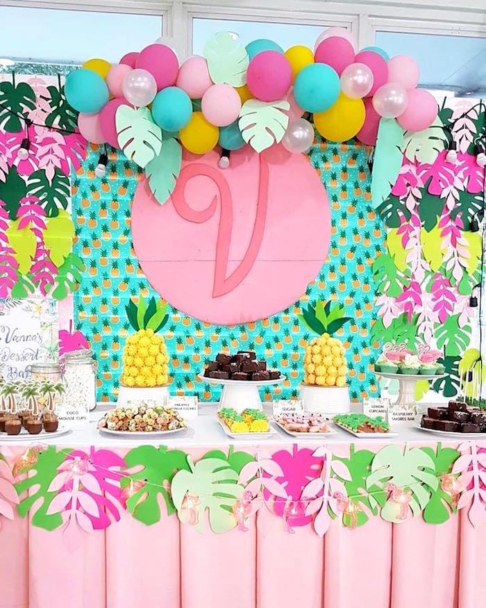 Tropical Flamingo Birthday Party on Kara's Party Ideas | KarasPartyIdeas.com (31)