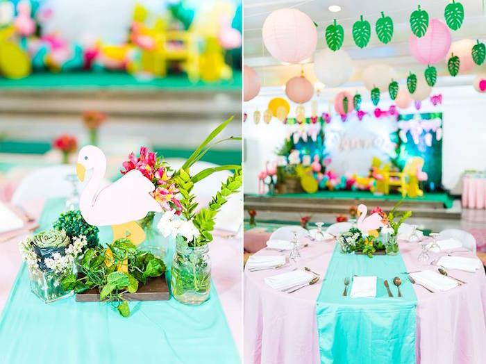 Tropical Flamingo Birthday Party on Kara's Party Ideas | KarasPartyIdeas.com (9)