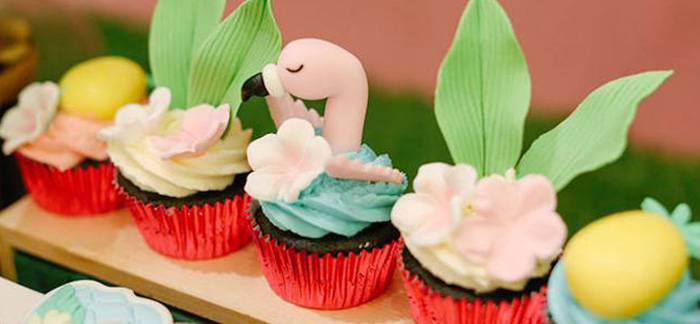 Tropical Flamingo Birthday Party on Kara's Party Ideas | KarasPartyIdeas.com (4)