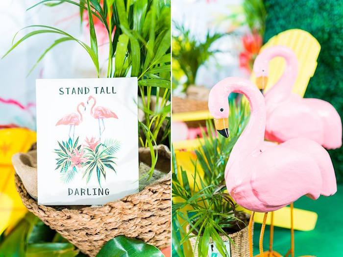 Flamingo Decor from a Tropical Flamingo Birthday Party on Kara's Party Ideas | KarasPartyIdeas.com (7)