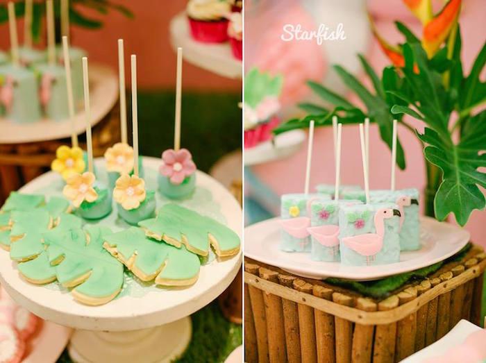 Tropical Treats from a Tropical Flamingo Birthday Party on Kara's Party Ideas   KarasPartyIdeas.com (26)
