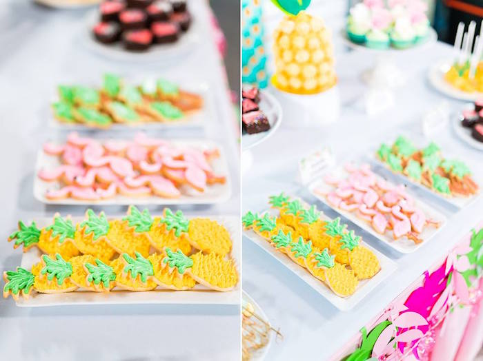 Tropical Themed Cookies from a Tropical Flamingo Birthday Party on Kara's Party Ideas | KarasPartyIdeas.com (27)