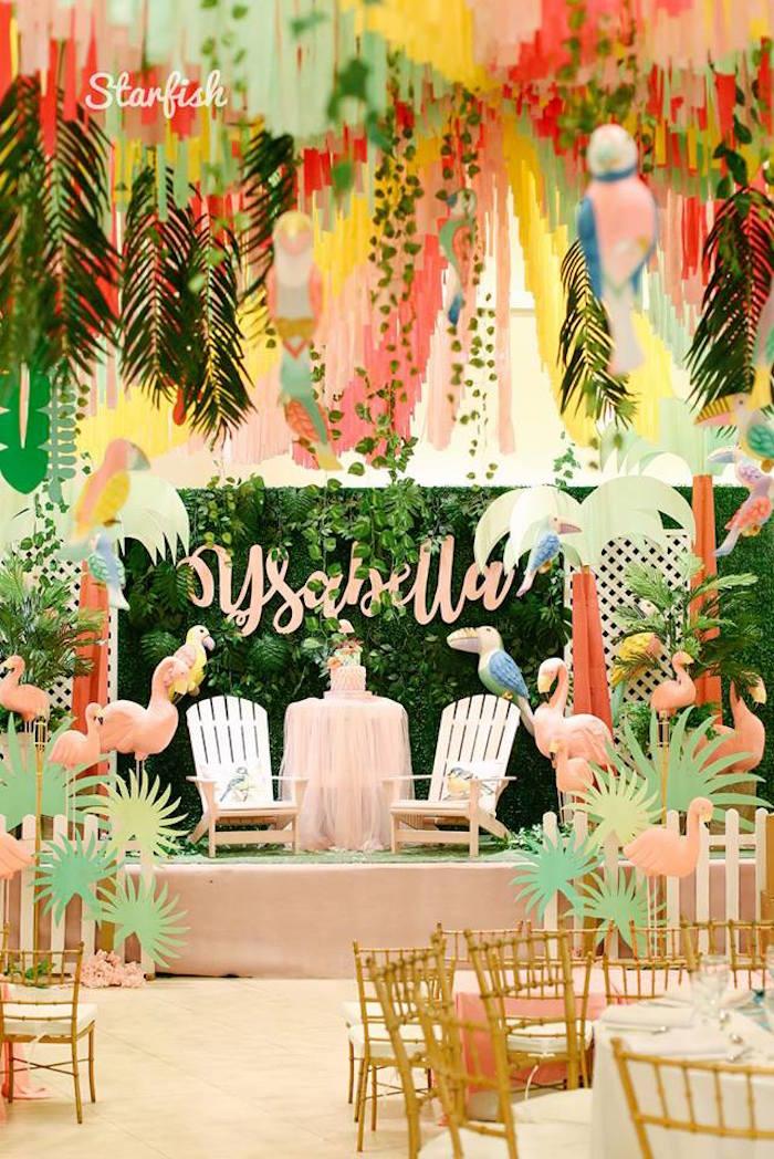 Tropical Flamingo Birthday Party on Kara's Party Ideas   KarasPartyIdeas.com (22)