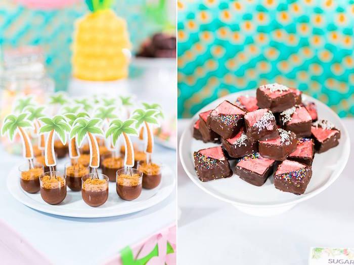 Tropical Treats from a Tropical Flamingo Birthday Party on Kara's Party Ideas | KarasPartyIdeas.com (24)