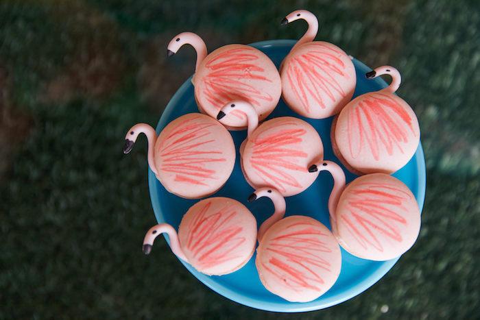 Flamingo Macarons from a Tropical Flamingo Pool Party on Kara's Party Ideas | KarasPartyIdeas.com (27)