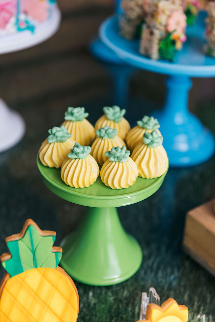 Pineapple Meringues from a Tropical Flamingo Pool Party on Kara's Party Ideas | KarasPartyIdeas.com (26)