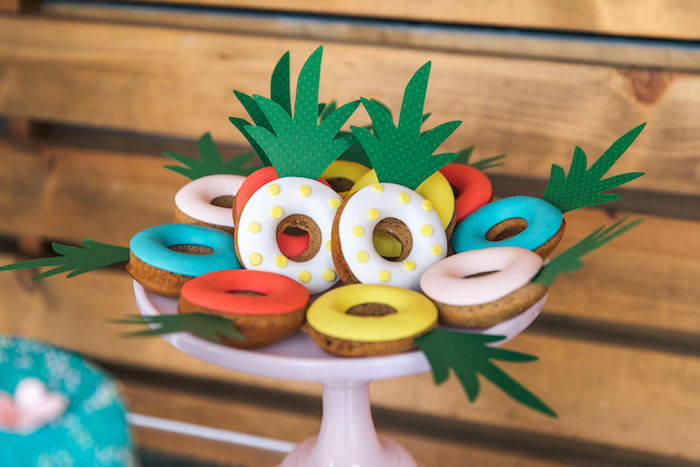 Pool Floatie-inspired Cookies from a Tropical Flamingo Pool Party on Kara's Party Ideas | KarasPartyIdeas.com (23)