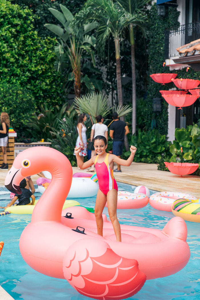 Flamingo Floatie from a Tropical Flamingo Pool Party on Kara's Party Ideas | KarasPartyIdeas.com (19)