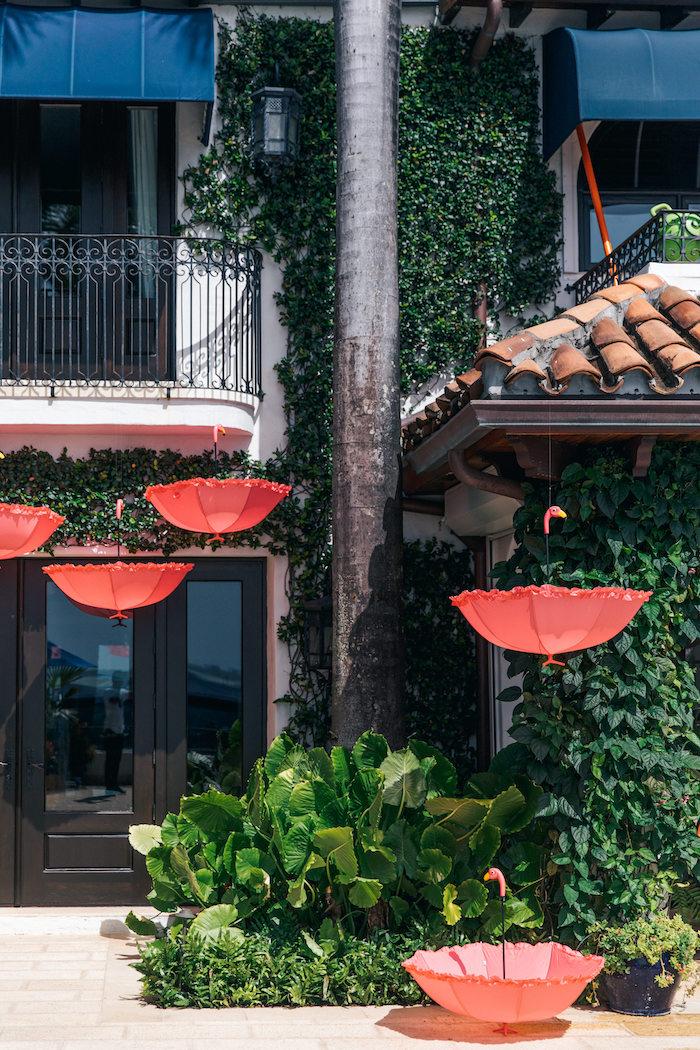 Flamingo Umbrellas from a Tropical Flamingo Pool Party on Kara's Party Ideas | KarasPartyIdeas.com (11)