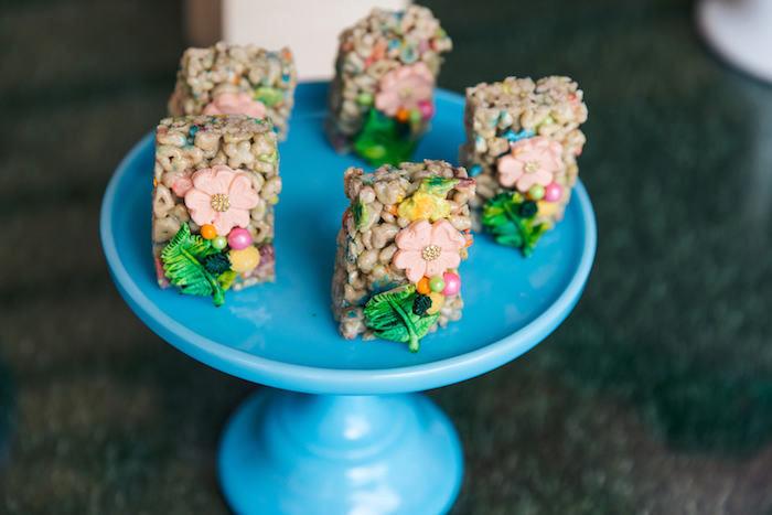 Tropical Crispy Treats from a Tropical Flamingo Pool Party on Kara's Party Ideas | KarasPartyIdeas.com (29)