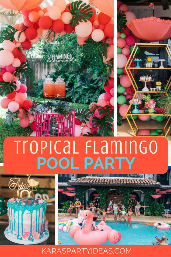 Kara S Party Ideas Tropical Flamingo Pool Party Kara S