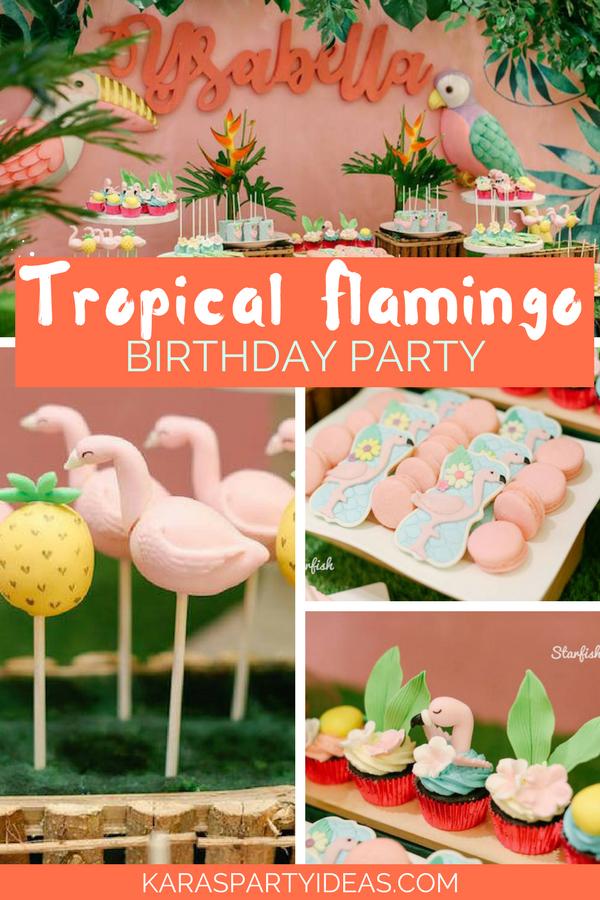 Tropical Flamingo Party via KarasPartyIdeas - KarasPartyIdeas.com