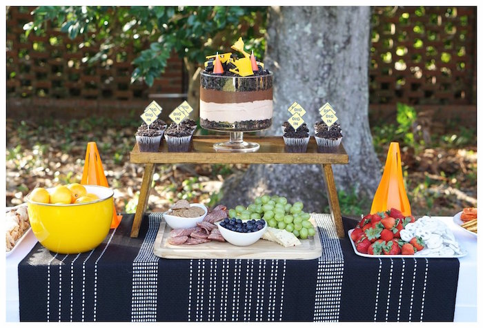 Construction Themed Dessert Table from an Under Construction Birthday Party on Kara's Party Ideas | KarasPartyIdeas.com (11)