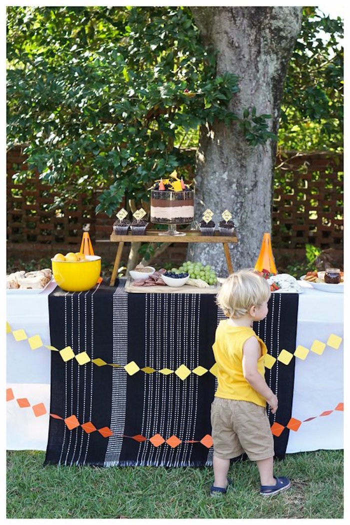Construction Themed Dessert Table from an Under Construction Birthday Party on Kara's Party Ideas | KarasPartyIdeas.com (10)