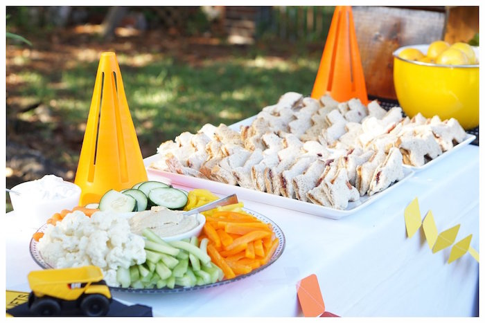 Construction Food Table from an Under Construction Birthday Party on Kara's Party Ideas | KarasPartyIdeas.com (8)